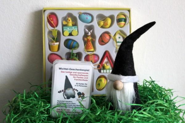 wichteln an Ostern mit dem Geschenkespiel Set